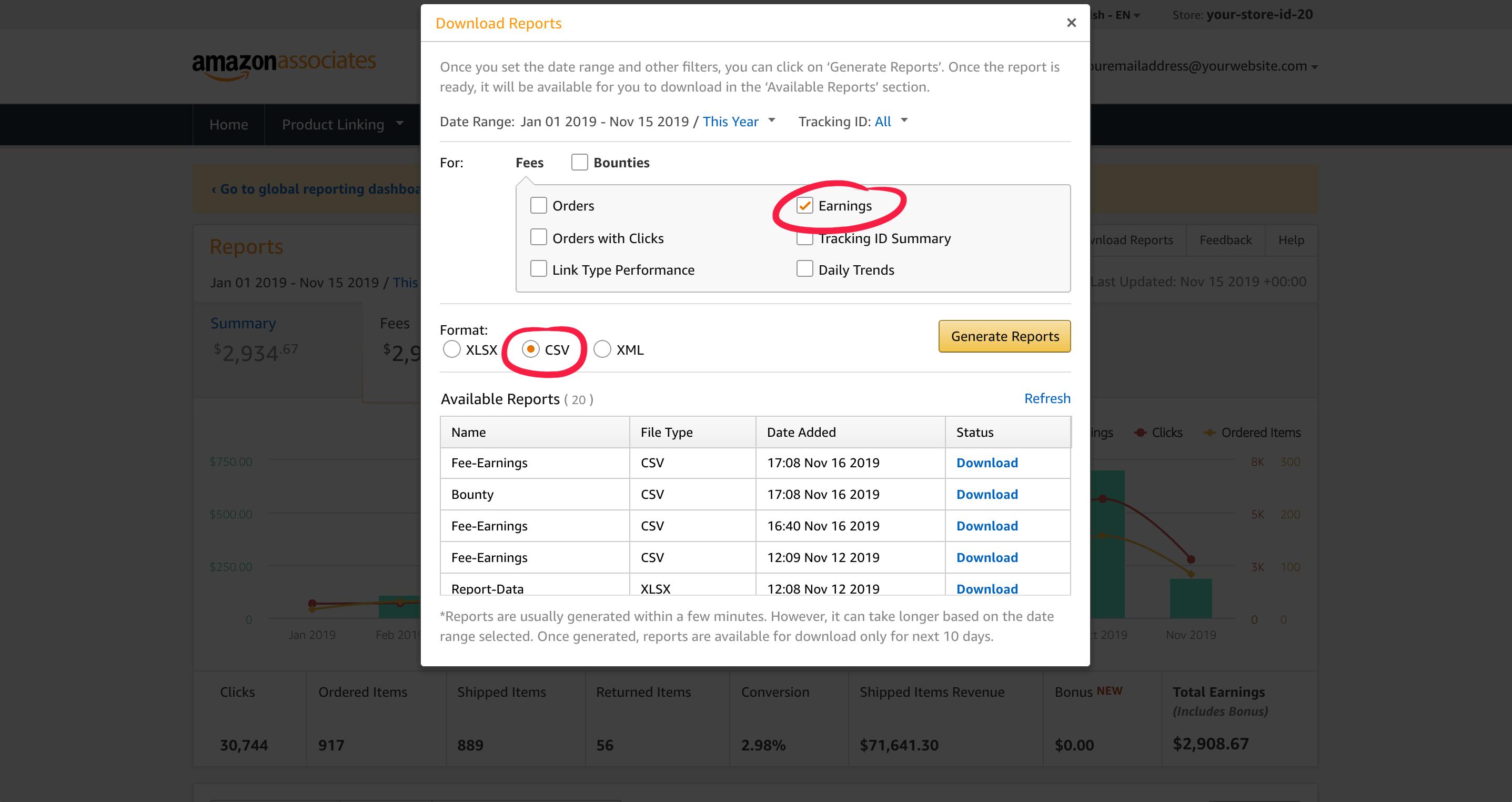 Download Amazon Earnings reports